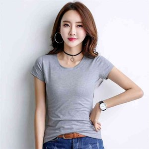 Summer new pure white cotton short sleeve T-shirt han edition van couture show thin render unlined upper garment jacket shirt co 210330