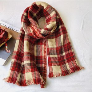 Scarf female winter thick double-sided British retro plaid scarf houndstooth Korean version of the wild student shawl scarf