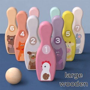 Digital animal colorful bowling traditional game early childhood education hand-eye coordination parent-child interactive educational toys