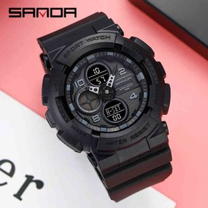 Наручные часы Sanda G Стиль Спорт Мужские Часы Водонепроницаемый Кварцевый Военный Амортизатор LED Цифровой Мужской MS Часы Relogio Masculino