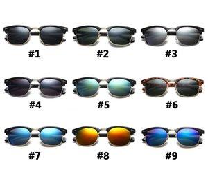 In magazzino Occhiali da sole Andamento della moda Trend Mezzo-frame Protezione UV occhiali da sole diversi colori # 3016