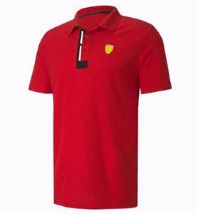 F1 Racing Costume Polo Chemise à manches courtes, t-shirt à revers à séchage rapide en polyester, le même style peut être personnalisé