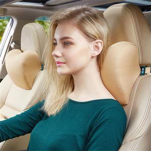 Seat Cushions Adjustable Car Memory Foam Headrest Belt Side Reclining Child Travel Sleep U Shaped Space Cotton Neck Pillow 55