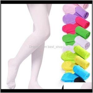 Leggings 19 Colors Girls Pantyhose Tights Quality Kids Dance Socks Candy Color Children Veet Elastic Legging Clothes Baby Ballet Zusy5 L3Sgr