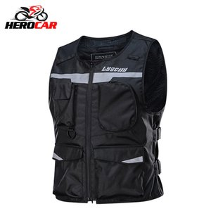 LYSCHY Motorcycle Motorbike Protective Gear Moto Jacket Reflective Sleeveless Breathable Riding Safety Vest Clothing