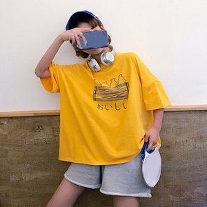 T-SHIRT sleeve women short Loose summer LARGE versatile top women's wear