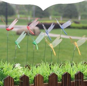 ديكورات حديقة 8 سنتيمتر اليعسوب الاصطناعي في الهواء الطلق 3d محاكاة اليعسوب حصص ساحة مصنع العشب ديكور عصا 50 قطعة / الوحدة ZC194