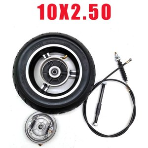 Electric Scooter 10x2.50 High Quality 10 Inch Wheel With Drum Brake & Line Alloy Hub Rear Set Motorcycle Wheels Tires