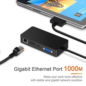 Stations CE USB 3.0 HUB For Microsoft Surface Pro 4 5 6 HD 4K DP VGA Audio Gigabit Ethernet adapter RJ45 SD TF DocKing base Dock PC