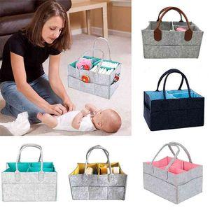 Baby Diaper Bag large capacity Storage Foldable Nappy Nurse Care Organizer Container bag for stroller Travel Handbag 210909