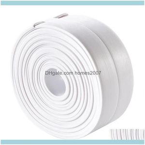 Stickers Décor Home & Gardenkitchen Diy Self Adhesive Tape Waterproof White Mildewproof Sealing Sealant Strip Mosaic Pvc Wall Sticker Bathro
