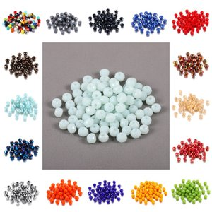 70-300 pieces of 3   4   6   8mm large crystal glass bead Rondelle faceted color small spacing bead DIY bracelet Jewelry Making Suppl 783 T2