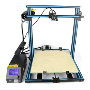 Printers DIY Desktop 3D Printer 400*400*400mm Large Printing Size Multi-type Filament With Heated Bed LCD Display