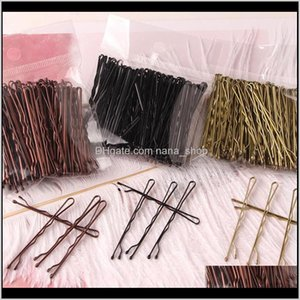 Braiders Care & Products Drop Delivery 2021 100Pcs Wedding Alloy Pins Clips Hairpins Hair Aessories Black Side Wire Word Folder Styling Tools