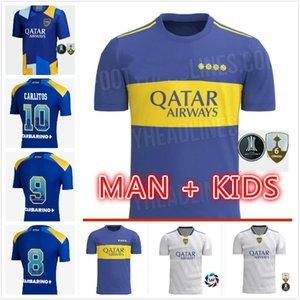 BOCA JUNIORS Футбол Джерси 2021 2022 Carlitos Maradona Tevez de Rossi 21 22 Спортивная футбольная футболка Униформа Дом Третьей 3-й