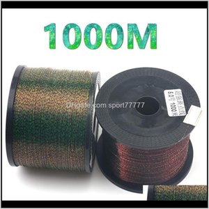 Lines Sports & Outdoors Drop Delivery 2021 1000M Super Power Monofilament Nylon Speckle Invisible Camouflage Rock Sea Thread For Carp Fishing