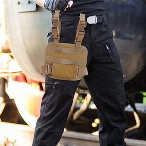 Modular Thigh Magazine Pouch Holster Platform Breathable Drop Leg MOLLE Panel For Family Outdoor Camping Accessory Bags