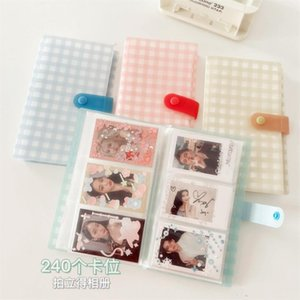Card Holders 3 Inch 240 Pockets PVC Po Large Capacity Business Book Picture Storage Case Postcard Collect Organizer Holder