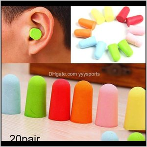 Nose Clip Swimming Equipment Sports & Outdoors Drop Delivery 2021 20 Pairs Comfort Foam Soft Earplugs Noise Reduction Protect Sleep Slow Rebo