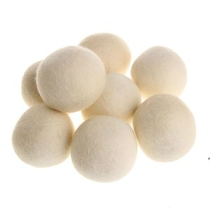 Practical Laundry Products Clean Ball Reusable Natural Organic Fabric Softener Premium Wool Dryer Balls NHE5893