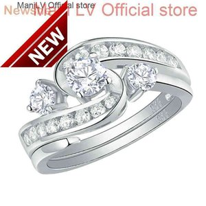Newshe Unique Wedding Engagement Ring Bridal Set 1 Ct Round White CZ 925 Sterling Silver Trendy Jewelry Gift For Women QR104435