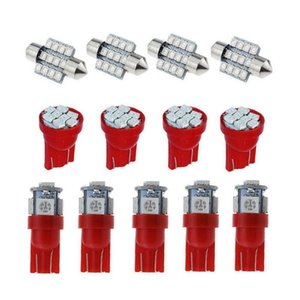13Pcs T10 Led Bulb W5W Canbus Car Interior Lights Dashboard Warming Indicator Auto Instrument Lamp 12V Emergency