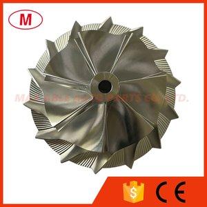 T04S 8635R P00767 62.30 86.15mm 7+7 blades Reverse Turbocharger High Performance Turbo Billet compressor wheel Aluminum 2618 Milling wheel for Racing Cartridge CHRA