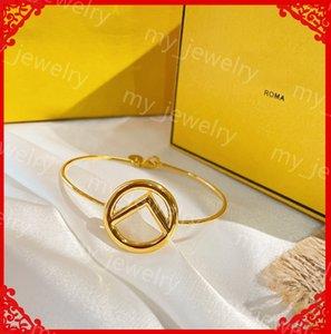Luxurys Designer Bracelets For Women Designers Stainless Bangles Letter F Glossy Bracelet Wedding Lovers Gift Luxury Jewelry With For Bride
