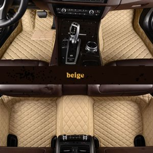 Leather Custom Auto car floor Foot mat For Mitsubishi all models ASX outlander lancer pajero sport pajero dazzle car styling Car g h r