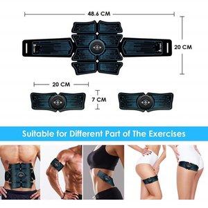 Electric Muscle Stimulator Abdominal Stimulation Exerciser Training Body Slimming Machine Fat Burning Fitness Massage Equipment