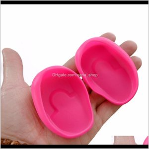 1 Ear Cover Pair Salon Sile Rubber Dye Shield Soft Earmuffs Protective Protect Color Hair Coloring Style Tools 1Pvnp Qaxqj