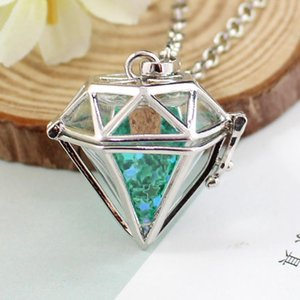 Heart Locket With Fillable Glass Orb Urn Pendant Necklace Memory Jewelry Necklaces