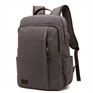 Backpack WILIAMGANU Retro Men Big High Capacity USB Charge Canvas Student Travel School Bags For Teenagers Designer