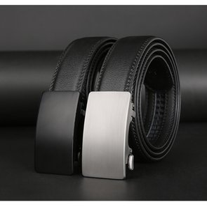 Belts Automatic Buckle Belt, Men's Leather, Black Suit, Buckle, Leisure Youth Pants, Inner Wear Fashion