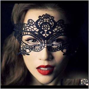 Suministros festivos Inicio Jardín Drop Entrega 2021 21 Estilos Sexy Lady Lace Fashion Hollow Oce Mask Black Mascarada Fancy Masks Halloween Venet