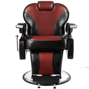 Hand Hydraulic Recline Tattoo Chair Salon Barber Hair Stylist Heavy Duty Shampoo Beauty Salon Equipment - Red by sea FWB10340