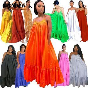 Casual Dresses CMYAYA Women Summer Long Maxi Dress Sexy Sleeveless Strap Loose Beach Party Night Club Bandage Female S-5XL Vestido