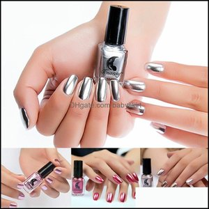 Nail Art Salon Health & Beautynail Polish Nail-Shimmer-Powder Mirror-Effect Chrome-Pigment Dust Rose-Gold Metal Shining Drop Delivery 2021 L