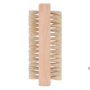 Деревянные щетки для ногтей Двусторонний натуральный кабан щетины Деревянный маникюр двойной поверхности ручной очистки кисти DHB6281