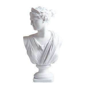 Apollo Head Portraits Bust Greek Mythology Artemis Statue Home Decoration Resin Art&Craft Sketch Practice 210329