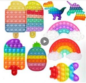 Tiktok Последние игрушки Findget Toys Взрослые Дети плюс антисрезы, декомпрессионные подвески сдавливание Push Bubble Kids Education Toys