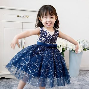 Baby Girls Wedding Party Dress Beads Sequin Tulle Christening Gown Infant Princess Birthday Born Bapyism Clothes Girl's Dresses