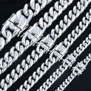 6mm-18mm Hip-Hop Curb Cuban Link Chain Stainless Steel Necklace For Men and Women Bracelet Fashion Jewelry
