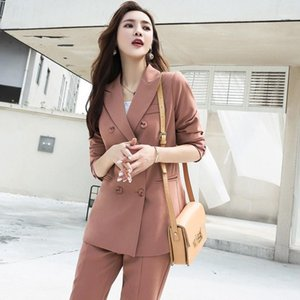 Fashion Elegant Work Business Pants Suits For Women Single Breasted Blazer Jacket And Shorts Two-piece Set Female Office Uniform1