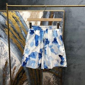 2021 Summer paris designer Shorts Mens Ink splashing printing short Fashion letter print Pants casual cotton breeches