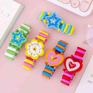 Cartoon wooden decorative student prize kindergarten creative small gift simulation toy watch