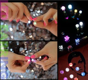 Stud LED Flash Hipster Novel Creative Personality Love Dance Party Nightclub Light Up Stainless Steel Earrings s 4M4V 32K8