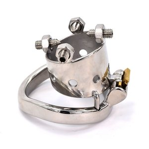 Locking Stainless Steel Male Chastity Cage Super Small Metal Cock Cage with 40 45 50mm Penis Ring Sex Toys for Men