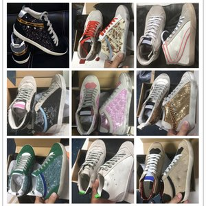 Italian star old dirty shoes Mid Slide Star super Leather Sneakers casual for men and women shoe's Best quality