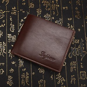 Wallets High Quality PU Leather Men's Famous Band Top Fashion Coin Pocket Purse Wallet 3Colors Money Clip